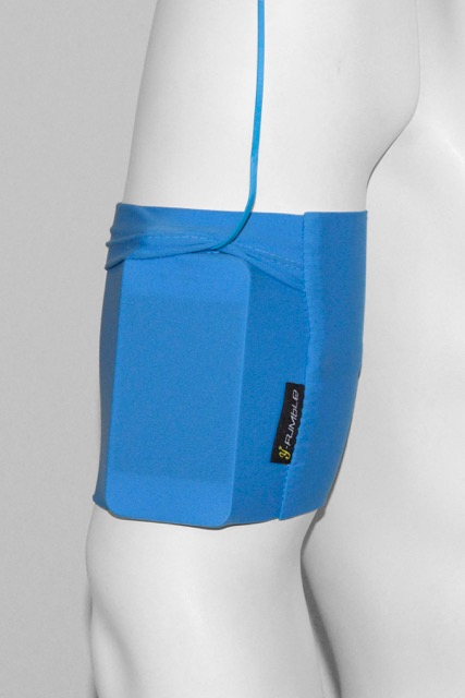 Blue on arm mobile - Y Fumble Arm Band