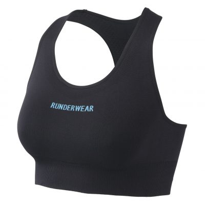 RunderwearAllImages 0013 Runderwear Womens Crop Top Black 4 400x400 - Women's Runderwear Low-Impact Crop Top