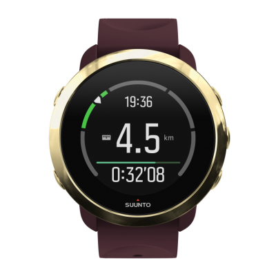 SS050054000 SUUNTO3G1BURGUNDY FrontView TR realtime guidance z2 distance compressed 400x400 - SUUNTO 3 FITNESS Burgundy