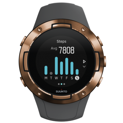 SS050302000 SUUNTO5G1GRAPHITECOPPERKAV FrontView INS Activity Steps 7day compressed 400x400 - SUUNTO 5 G1 GRAPHITE COPPER