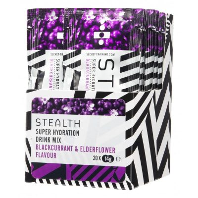 stealth super hydration drink mix blackcurrant elderflower@2x 400x400 - STEALTH Super Hydration Drink Mix Powder x 20 (Blackcurrant & Elderflower)