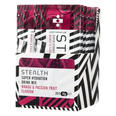 stealth super hydration drink mix mango passionfruit@2x 400x400 - STEALTH Super Hydration Drink Mix Powder x 20 (Mango & Passionfruit)