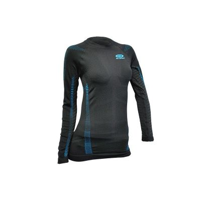 technical top RTECH long sleeved female in black/blue